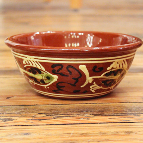 Redware Bowl with Fish