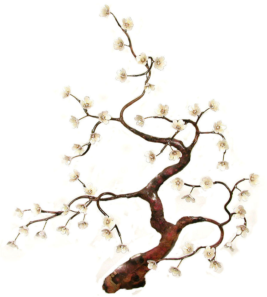 Flowering Tree White Wall Art by Bovano Cheshire