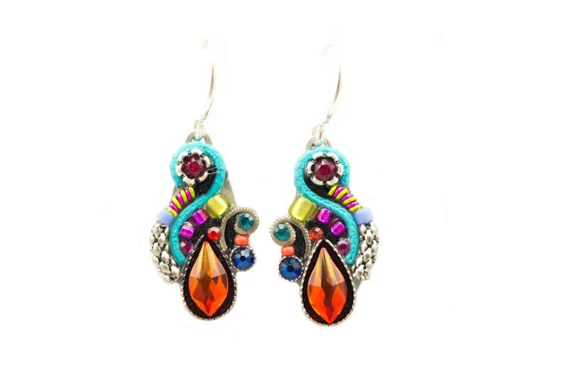 Multi Color Lily Organic Earrings by Firefly Jewelry