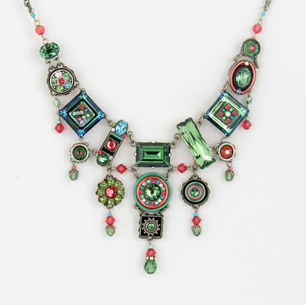 Erinite La Dolce Vita Elaborate Necklace by Firefly Jewelry