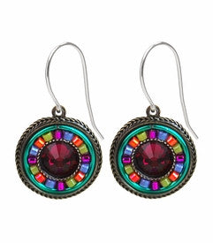 Multi Color La Dolce Vita Round Earrings by Firefly Jewelry