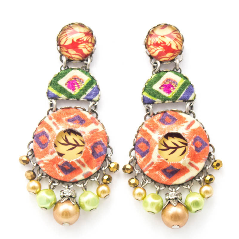 Vivid Tangerine Hip Collection Earrings by Ayala Bar