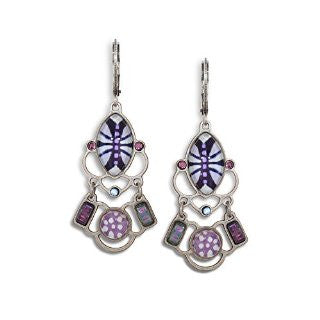 Lilac Blossom Lever Back Earrings