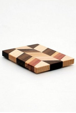 "Small Checkered Trivet in Maple - Size 3""x4"""