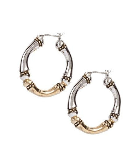 Canias Collection Large Hoop Earrings by John Medeiros