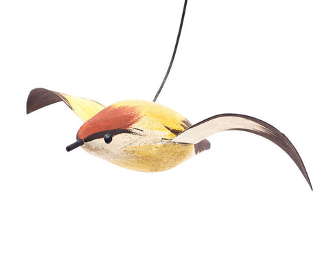Flying Swamp Sparrow Songbird Ornament