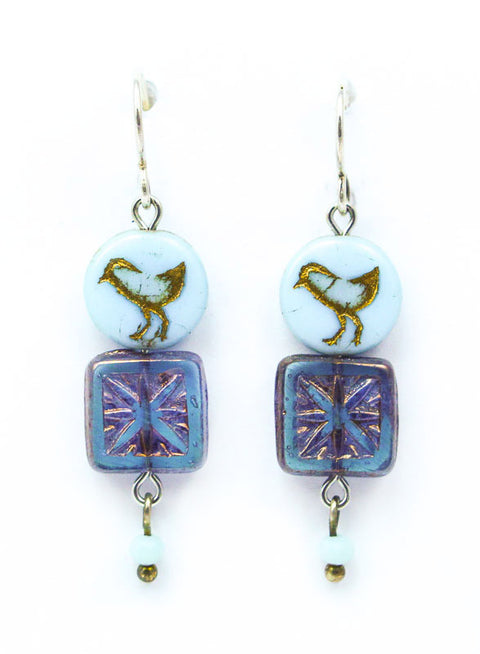 Baby Blue Bird Earrings by Desert Heart