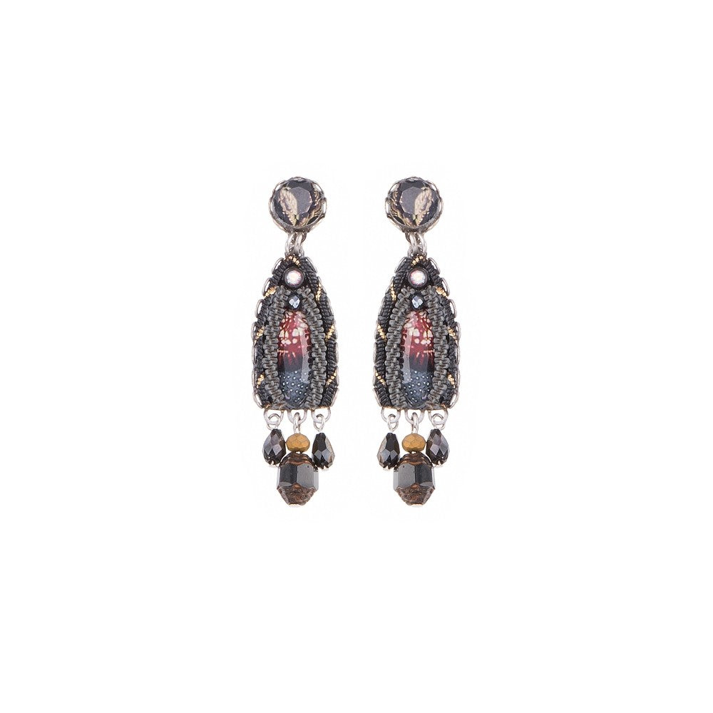 Moon Jet Tova Earrings by Ayala Bar