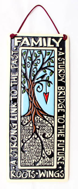 Family Roots Large Tall Ceramic Tile