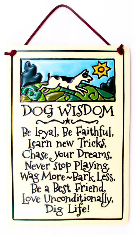 Dog Wisdom Large Rectangle Ceramic Tile