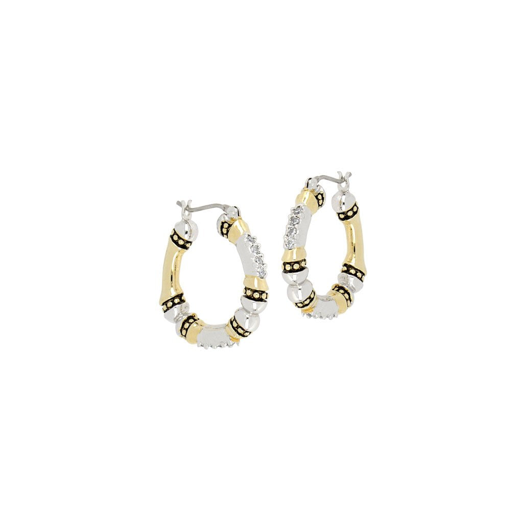 Canias Small Pave Hoop Earrings by John Medeiros