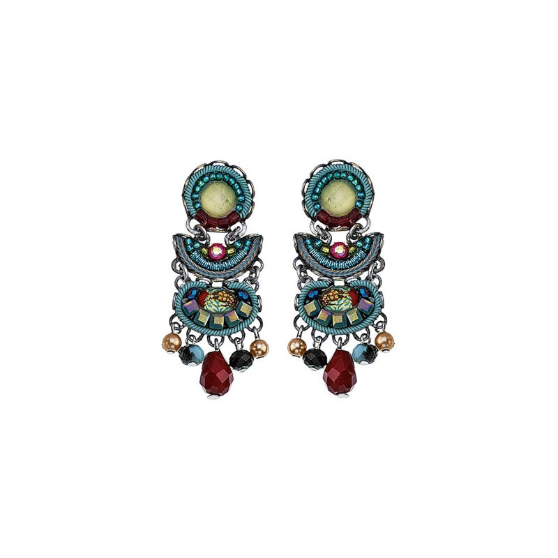 Turquoise Crown Ritva Earrings by Ayala Bar