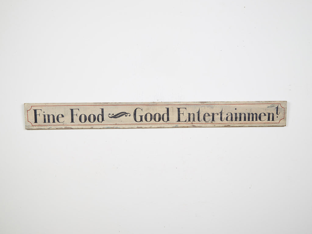 Fine Food and Good Entertainment Americana Art