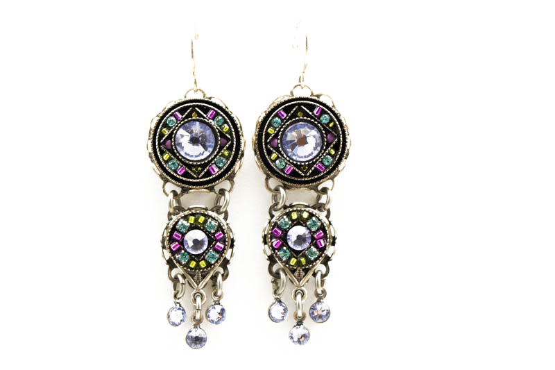 Lavender Isabella Chandelier Earrings by Firefly Jewelry