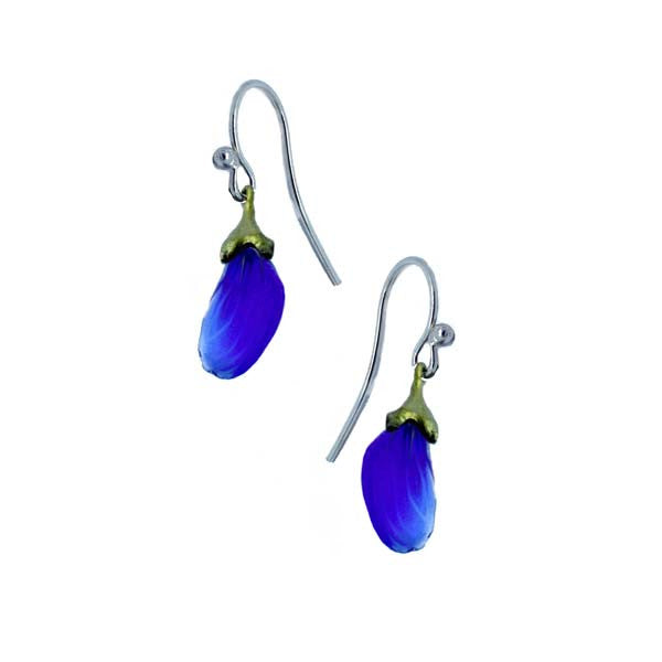 False Indigo Blue Wire Earrings