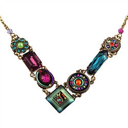 Multi Color Gold La Dolce Vita V Necklace by Firefly Jewelry