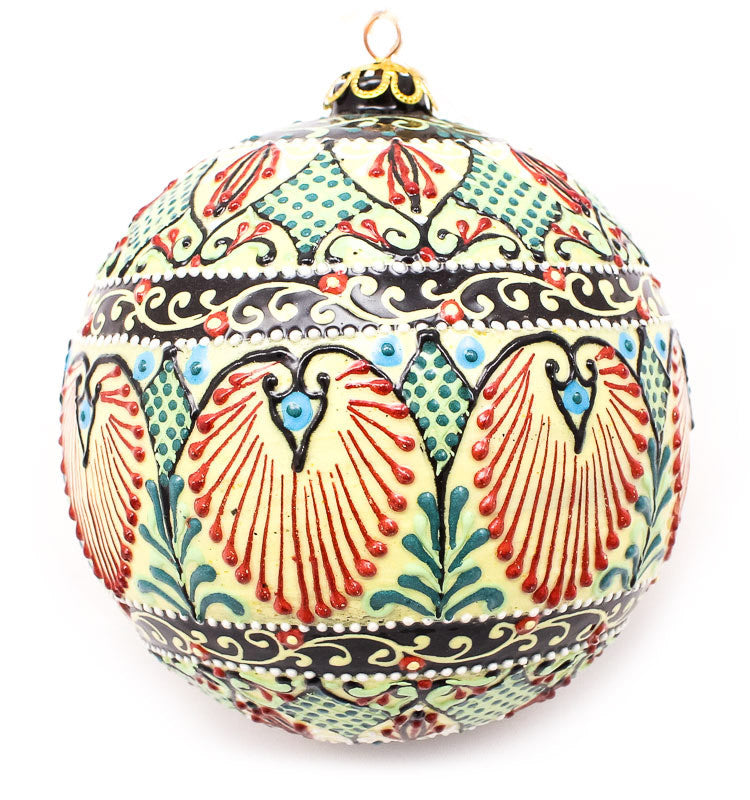 Quilted Valley Large Bulb Ceramic Ornament