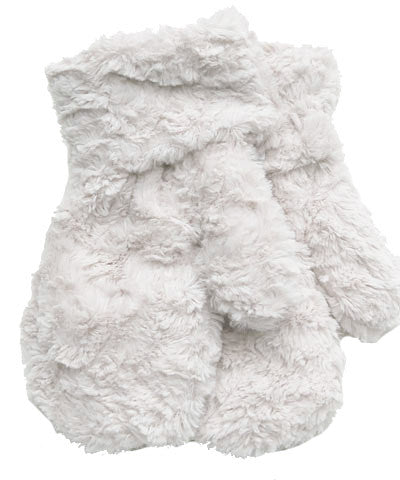 Ivory Luxury Faux Fur Mittens