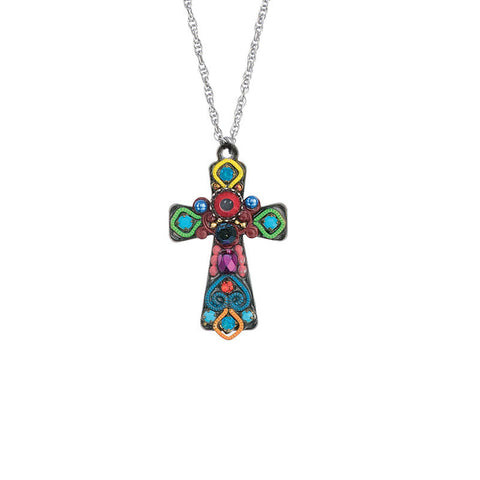 Rainbow Road Medium Cross Necklace by Ayala Bar