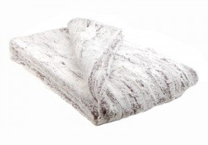 "Khaki Luxury Faux Fur Throw 58""x45"""