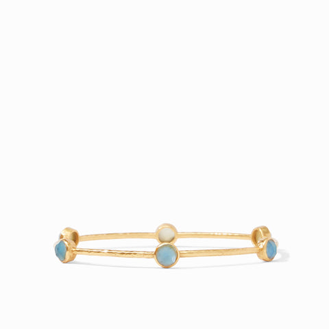 Milano Luxe Bangle Gold Iridescent Slate Blue - Medium by Julie Vos
