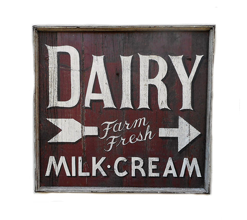 Dairy Farm Fress Milk, Cream Americana Art