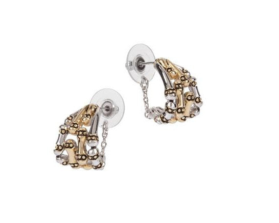 Canias Collection Safety Chain Post Earrings by John Medeiros