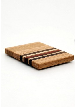Small Striped Trivet in Oak