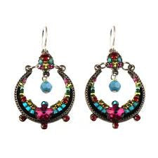 Multi Color Hoop Earrings by Firefly Jewelry