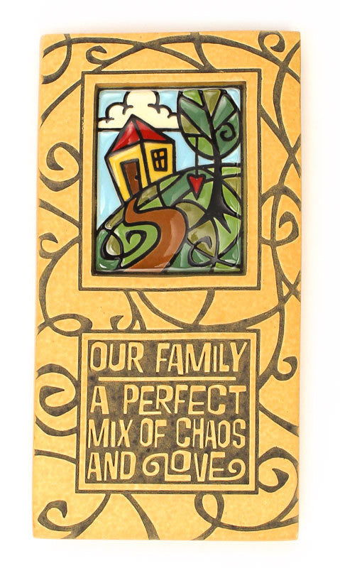 Our Family Large Thick Ceramic Tile