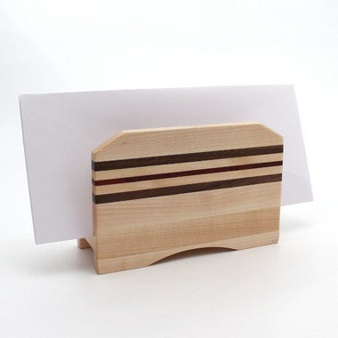 Striped Letter Holder in Maple