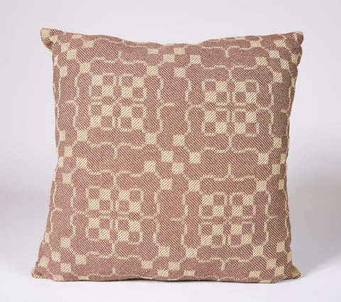Angstadt #6 Pillow in Brown and Jute with Striped Side