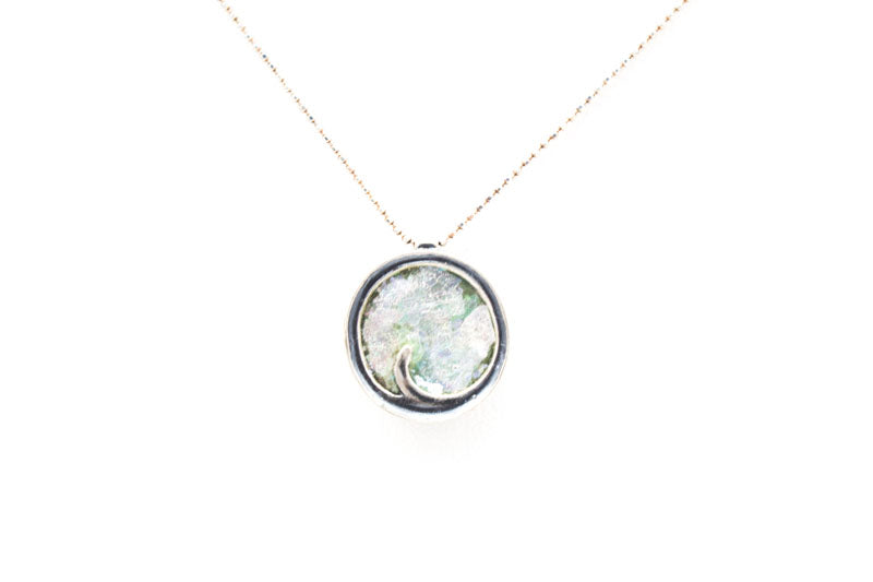 Dainty Swirl Roman Glass Necklace