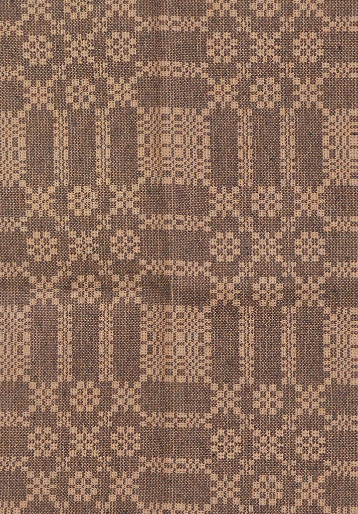 Summer Rose/Winter Fell Short Table Runner in Brown with Tan