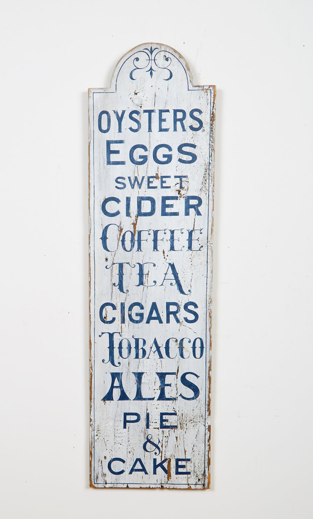 Oysters, Eggs, Sweet Cider, Vertical Americana Art