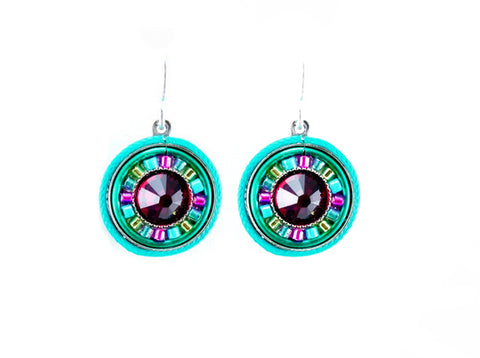 Indicolite La Dolce Vita Round Earrings by Firefly Jewelry