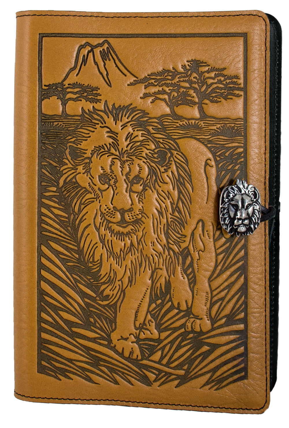 Small Leather Journal - Lion in Marigold