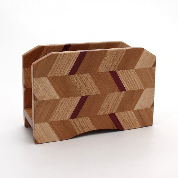 Checkered Letter Holder in Oak