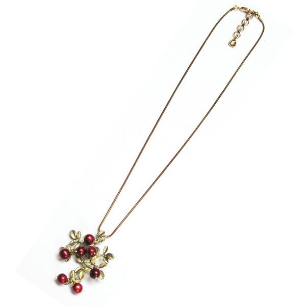 Cranberry Pendant Necklace by Michael Michaud