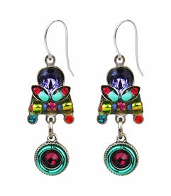 Multi Color Circle Drop Earrings by Firefly- Jewelry
