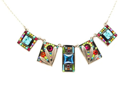 Multi Color Luxe Five Piece Necklace by Firefly Jewelry