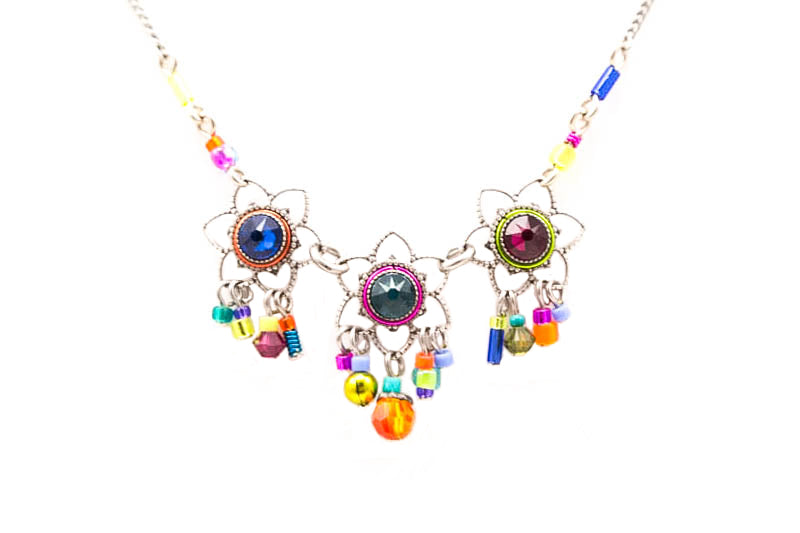 Multi Color Light Necklace by Firefly Jewelry