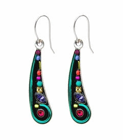 Multi Color Organic Wing Earrings by Firefly Jewelry