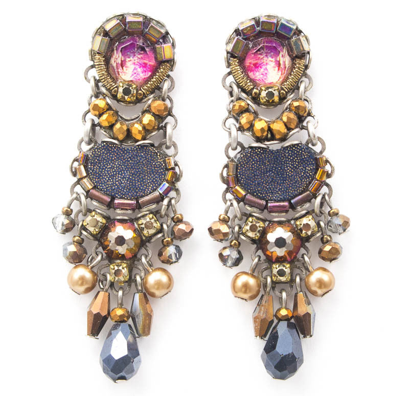 Twilight Lavander Medium Classic Collection Earrings by Ayala Bar