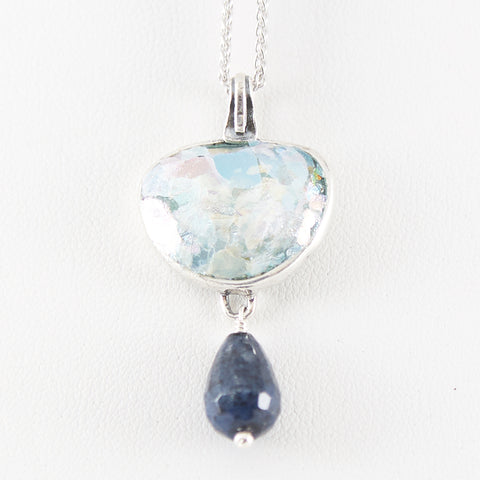 Delicate Drop Roman Glass Necklace