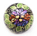 Pansies Large Bulb Ceramic Ornament