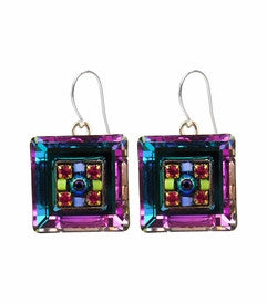 Tanzanite La Dolce Vita Square Earrings by Firefly Jewelry