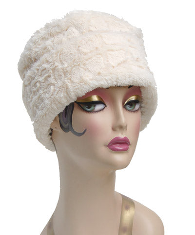 Alligator Cream Luxury Faux Fur Pillbox Hat