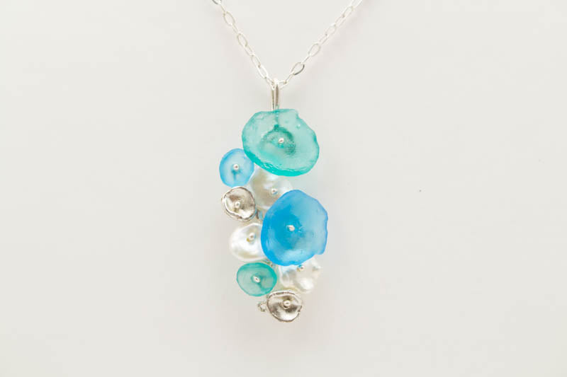 Drift Away Pebble Pendent 16 inch Adjustable Necklace