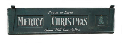 Peace on Earth Merry Christmas Americana Art